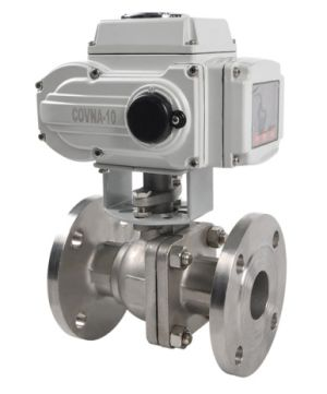 2 way flange electric ball valve