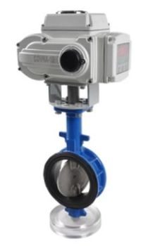 Wafer type electric butterfly valve